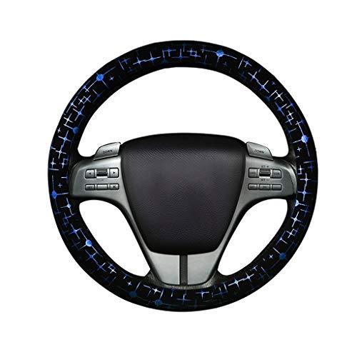 Couverture de volant de voiture Couvre volant - Poignée universelle Four Seasons de 15 po, Accessoires de décoration d'intérieur brillants Sweat anti-dérapant (3 couleurs)