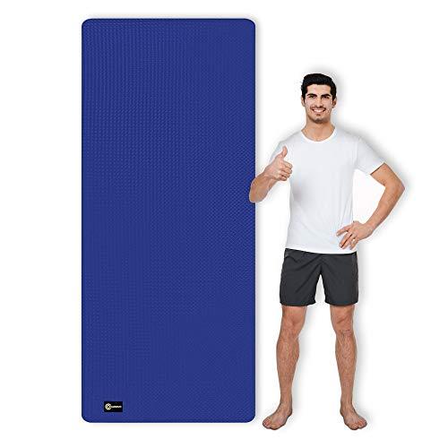 CAMBIVO Yogamatte, Gymnastikmatte extra lang(213cm x 81cm x 6mm), TPE Fitnessmatte rutschfest für Sport, Yoga, Pilates, Gymnastik, Workout