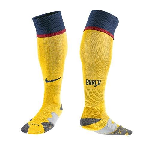 Nike Herren Socken FC Barcelona Away Sock, tour yellow/midnight navy/midnight navy, M, 478319