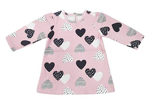 Rabbitto Spotty - Disney Full Sleeve Long Top for Baby Girls - Baby Pink (12-18 Months)