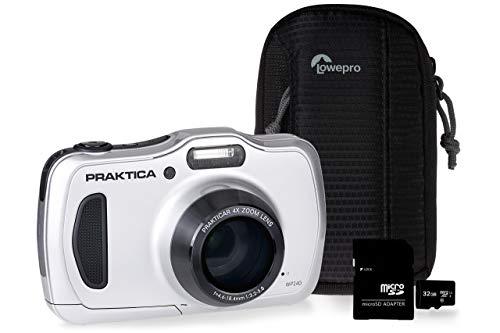 Praktica Luxmedia WP240 - Kit de cámara (32 GB, Incluye Tarjeta microSD)