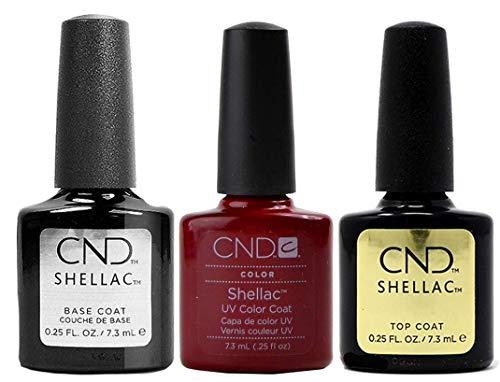 CND Shellac Decadence plus Base Coat plus Top Coat, Esmalte de gel de uñas - 22 ml