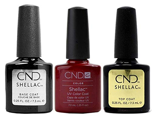 CND Shellac - Decadence Plus, base coat e top coat, 7,3 ml, confezione da 1 (1 x 22 ml)
