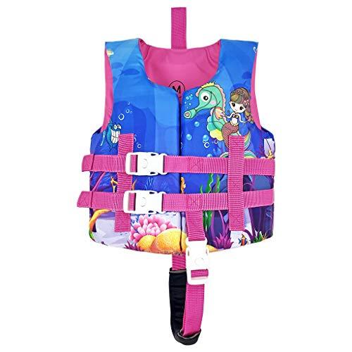 Kinder Schwimmweste - Kinder Float Jacket Weste, Sicherheitsweste, Schwimmtraining Schwimmender Badeanzug, Auftriebsbadebekleidung, Schwimmjacken Westefür Jungen Mädchen Pink M Größe