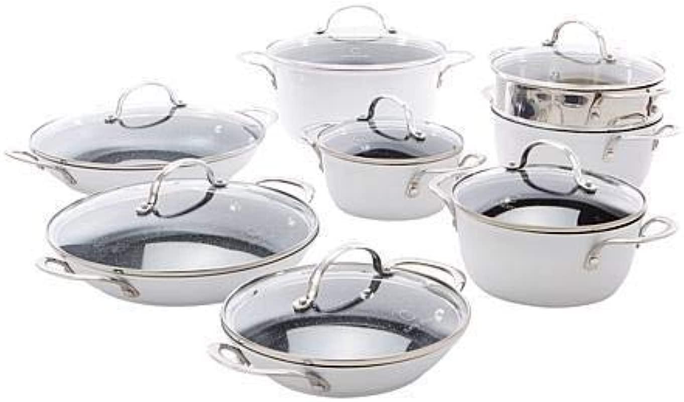 Curtis Stone Dura Pan Nonstick 15 Piece Nesting Cookware Set Model 655 425 Renewed