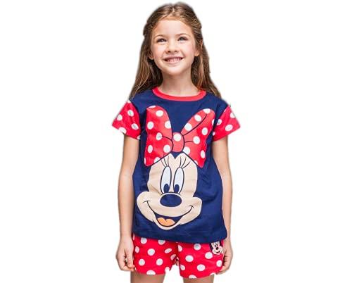 Minnie Mouse Camiseta y Pantalones Cortos para Niñas, Pijama de 2 Piezas,...