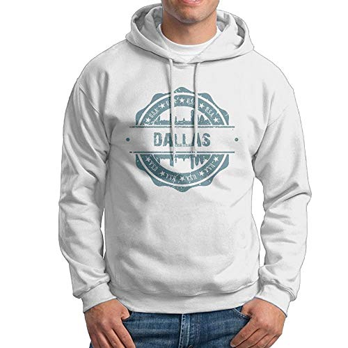 Men's Dallas Texas Hoodies Hooded Sweatshirt Pullover Sweater, Long Sleeves Hooded Tunic Shirt Set L
