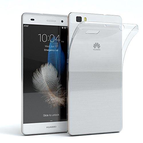 EAZY CASE Hülle kompatibel mit Huawei P8 Lite (2015) Schutzhülle Silikon, Ultra dünn, Slimcover, Handyhülle, Silikonhülle, Backcover, Durchsichtig, Klar Transparent