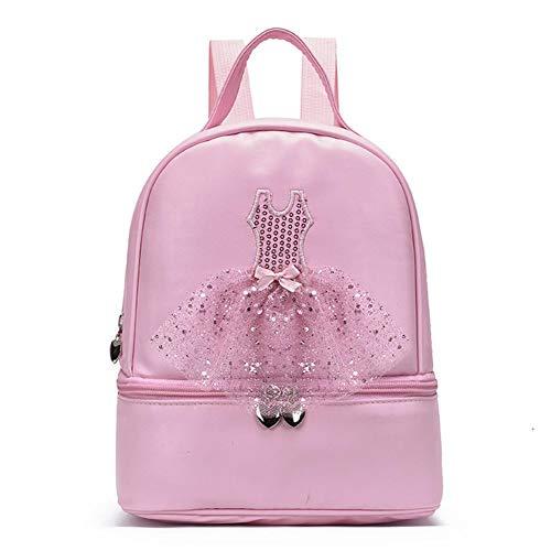 Gepersonaliseerde balletthema tas voor kinderen, schooltas voor meisjes, gymnastiek, zwemschool, in de vrije natuur, op reis, yoga, sport, handtas, rugzak, ballerina, schoen, jurk, bagage, koffer, roze