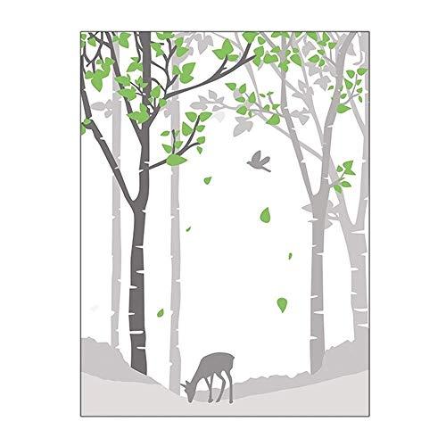 XYanZi Privacy Raamfolie, Zelfklevende Statische Decoratie voor UV-blokkerende Heat Control Glass Stickers - Fawn In The Forest (Color : B, Size : 80x120cm)