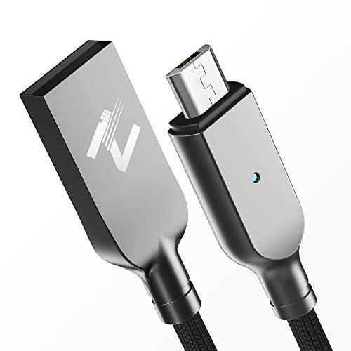 Cable Micro USB, ZKAPOR 2M Android Cargador Micro USB de Nylon Trenzado - Sincronización y Carga Rápida para Samsung Galaxy S7/ S6/ J3/ J5/ Note5, Xiaomi, Motorola, Huawei, Motorola, Kindle, E