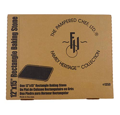 PAMPERED CHEF RECTANGULAR STONE # 1350 pizza bar pan