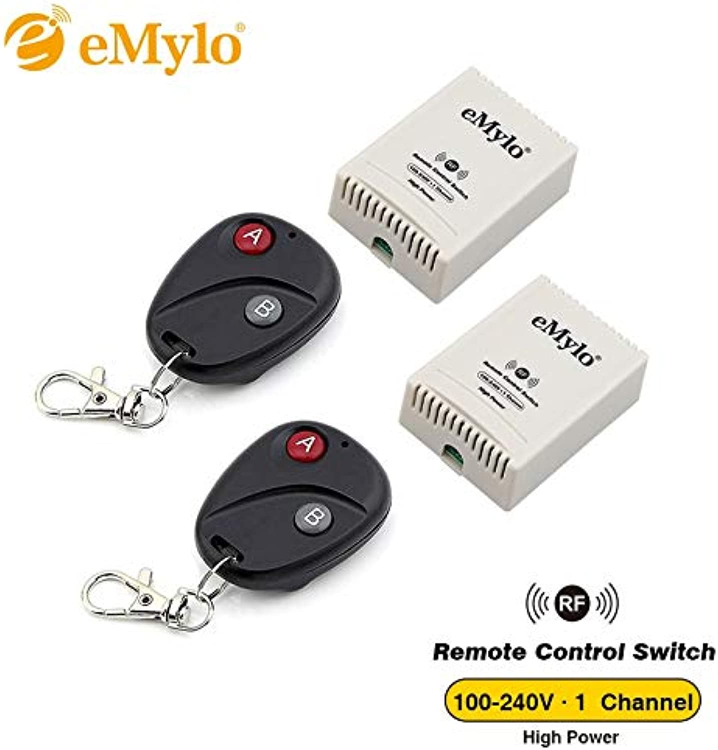 10A 2500W 100-240V AC Switch Control Remote RF EMylo Switch