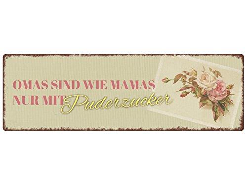 Interluxe METALLSCHILD Blechschild Omas SIND WIE Mamas Dekoration Retro