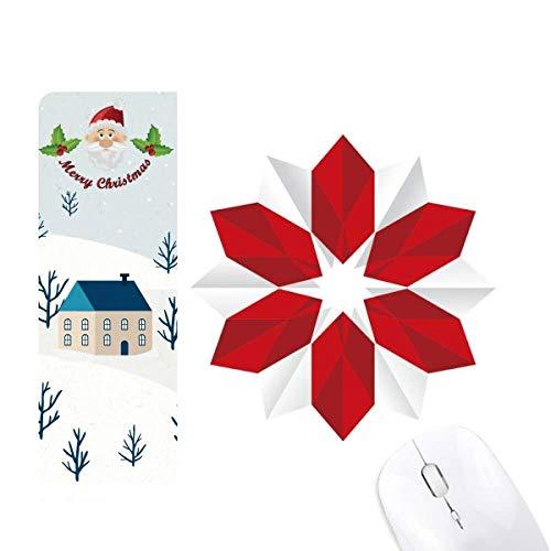 Resumen de Navidad Flor Origami Patrón Santa Claus Casa Mouse Pad Regalo