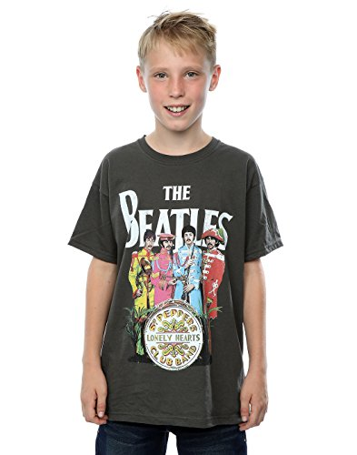 The Beatles Boys Sgt Pepper T-Shirt 9-11 Years Light Graphite