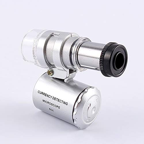 Sieraad Magnifier - Mini 60X Pocket Microscoop sieraden Magnifier Loupe glas UV Light