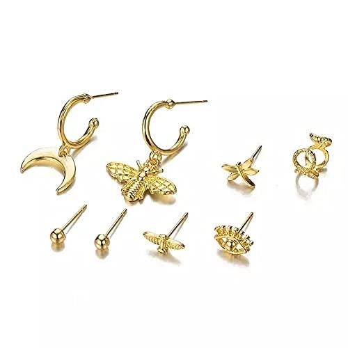 Pendientes de oro, egipcio, ojo de pájaro