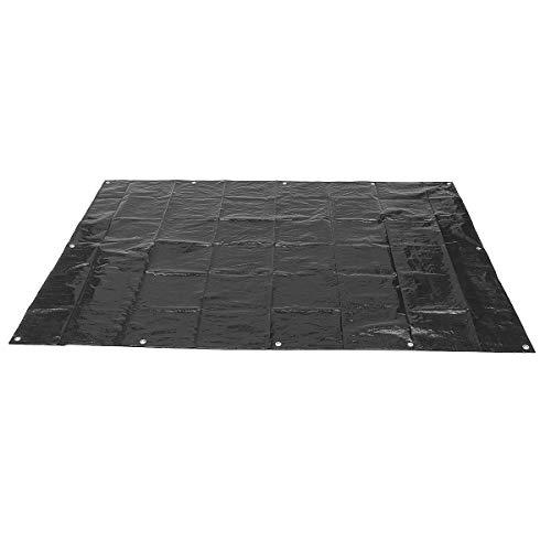 2x1.4m / 4x3m / 3x2m PE Lona Impermeable de Tela de jardín al Aire Libre Patio Jardín Casa Protector Solar Resistente al Agua de la sombrilla toldo de Tela (Color : Black 3mx4m)