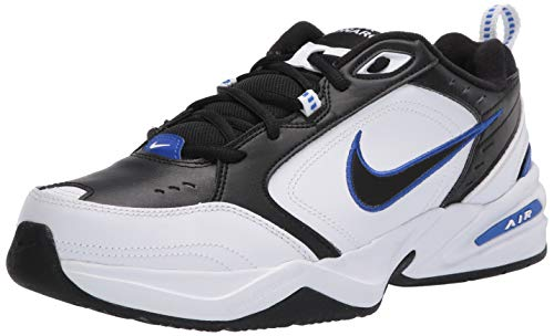 Nike Men's Air Monarch IV Cross Trainer, Black/Black-White-Racer Blue, 9.5 4E US