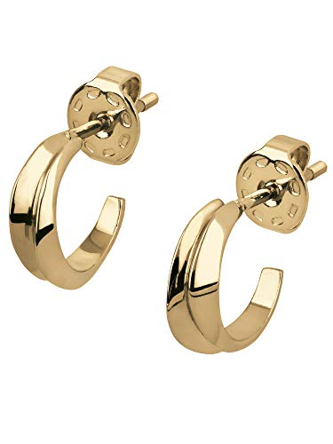 BREIL JEWEL Ladys' JOIN UP collection, IP COLOURED STAINLESS STEEL EARRINGS UNIQUE, YELLOW color with NO STONES - TJ2931