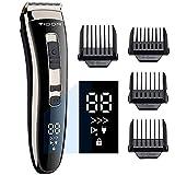 Maquina Cortar Pelo Profesional,YiLFo Cortapelos Hombre,Pantalla LED,USB Carga Rápida,3-Velocidade Ajustable Silencioso Máquina Cortar Pelo Inalámbrico,Mejor Precisión Recortador de Barba Kit Familia