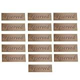 FLAMEER Juego de 16 Letreros de Carpa de Mesa Reservados Asientos para Banquetes de Boda, Banquetes Y Fiestas - Diseño de Doble Cara