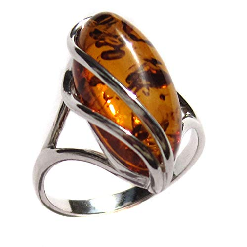 Amber Collection Sterling Silver Designer Ring