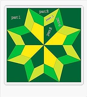 Silesian Quilt Patrón y Plantillas para Patchwork - Bloque Double Star 5 Pulgadas