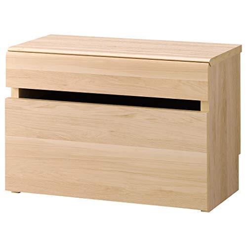 収納ベンチ 幅60cm 高さ41cm 木製 キャスター付き収納ボックス 幅木避け有り
