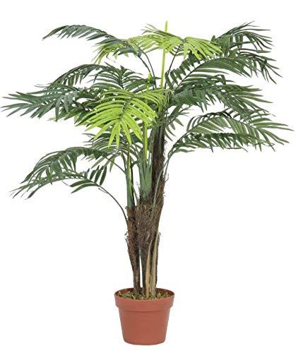 artplants.de Künstliche Areca Palme mit 13 Wedeln, 110cm, Outdoor - Plastik Goldfruchtpalme - Kunstpalme