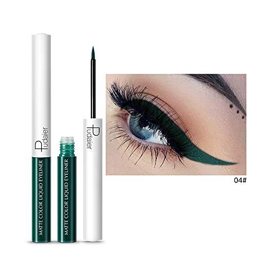 12shage Farbiger Eyeliner, Waterproof Augenschminke-Glitter-flüssiger Eyeliner (D)