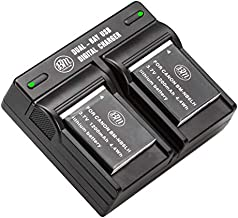 BM 2 Pack NB-6L, NB-6LH Batteries and Dual Battery Charger for Canon PowerShot S120, SX170, SX260, SX280, SX500, SX510, SX520, SX530, SX540, SX600, SX610, SX700, SX710, ELPH 500, D10, D20, D30 Camera
