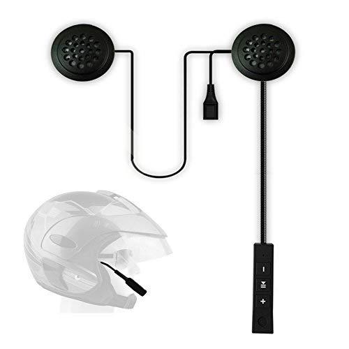 GEZICHTA - Cuffie Bluetooth per casco moto, anti-interferenza, senza fili, Bluetooth, antivento, vivavoce, casco da moto