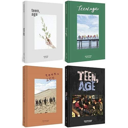 SEVENTEEN [TEEN, AGE] 2nd Album RANDOM Ver. CD + Libro + Tarjeta...