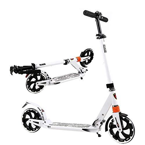 Relaxbx Draagbare Volwassen Kick Scooter Voetrem, Vouwen Stad Grote Wielen Commuter Scooters, Verjaardagscadeaus voor Kinderen 8 Jaar en omhoog Jongens Meisjes, Ondersteuning 150kg, Niet-Elektrische