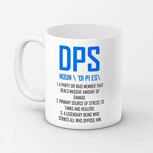 N\A aza Wow, Taza DPS, Taza Divertida Wow, World of Warcraft, DPS, Tazas Divertidas MMO, Wow, Regalo MMO, Tazas Divertidas para Juegos, Taza Warcraft, Taza Regalo Warcraft