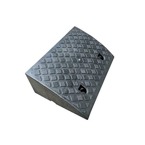 Rampa for automóvil Amarilla/Negra, Almohadilla Vertical de plástico de 17 cm Rampas portátiles durables for sillas de Ruedas Rampas de bordillo multifunción Almohadilla Triangular Antideslizante