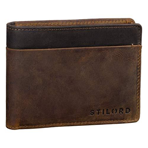 STILORD 'Sterling' Portefeuille Homme RFID Cuir Porte-Monnaie en Cuir Homme NFC Portefeuille de Haute Qualité en Cuir Véritable, Couleur:Marron Moyen