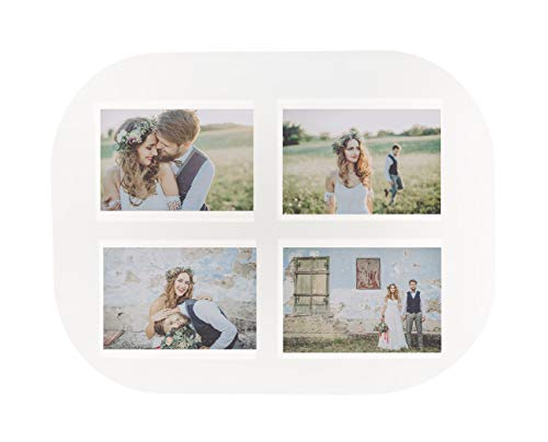 Trendfinding® - 6 x Tischset für 4 Fotos zum selbst gestalten Platzset Tischmatte Platzmatte Platzdeckchen 10x15 cm