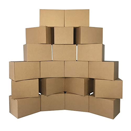 uBoxes Medium Cardboard Moving Boxes (20 Pack) 18 x 14 x 12-Inch