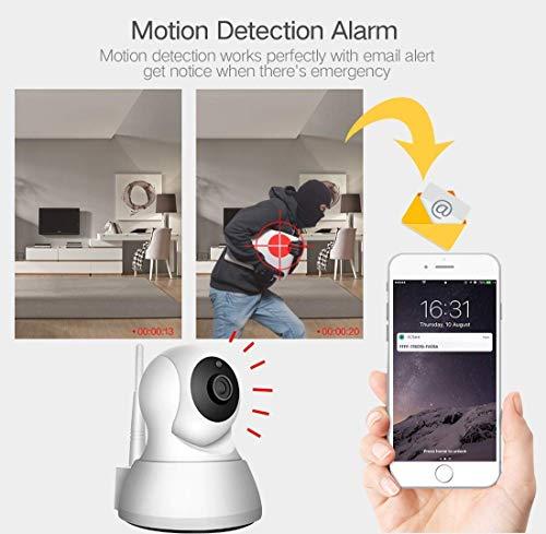 Bewakingscamera's 1080P Wireless Security-camera buitenshuis, wifi, schietweer, binnen en buiten, Xiongmai bewakingscamera Smart WiFi draadloze thuis-webcam IPcamera (kleur: wit), wit