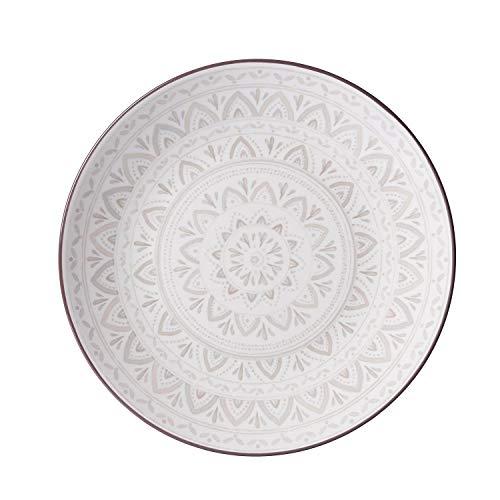 Flirt by R&B 745.085 Speiseteller, rund, Keramik, Braun, Grau, Weiß, 260 mm