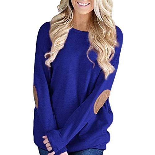 Sweatshirts Mujer Otoño Invierno Fashion Anchas Pullover Manga Larga Cuello Redondo Mode...