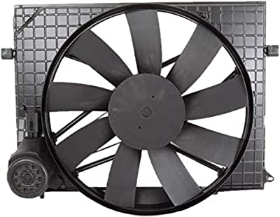 Bapmic 2205000093 Radiator Cooling Fan & Brushless Motor Compatible with Mercedes-Benz W220 CL500 CL55 S430 S500