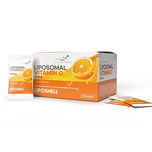 Liposomal Vitamin C 1000mg Liquid Sachets | 30 Sachets | Suitable for Vegetarians and Vegans | Made in The EU by Northumbria Health