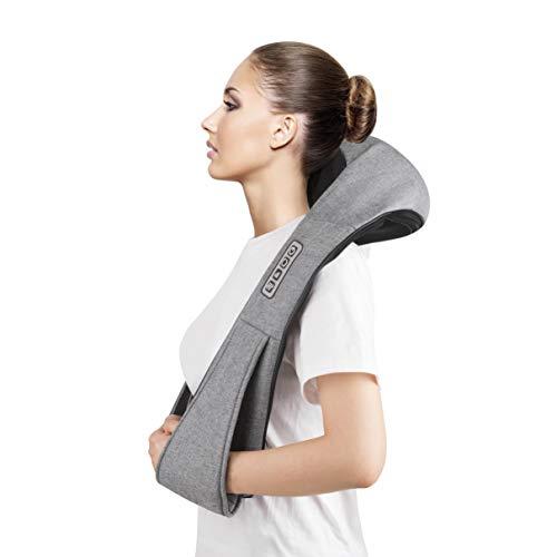 41i5xq9WqFL - Masajeador de Cuello, Carevas Masajeador Cervical con 3D Rotación Shiatsu y Función de Calor para Relajar Hombros y Espalda en Casa, Oficina o Coche
