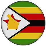 FanShirts4u Button/Badge/Pin - I Love SIMBABWE Fahne Flagge (SIMBABWE/Flagge)