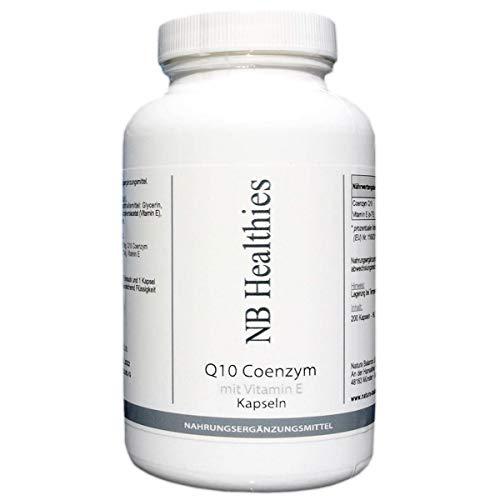200 Kapseln Q10 Coenzym hochdosiert 200mg pro Softgel Tablette Haut Anti Aging Immunsystem