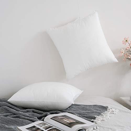 MIULEE 2er Set Kissenfüllung Vliesstoffe Sofakissen Innenkissen Kissen-Kern Kopfkissen Kissen Füllkissen Zierkissen Dekokissen für Wohnzimmer Schlafzimmer Sofa Bett 40x40 cm